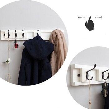 Wand Handtuchhalter   4 Haken Wand Montiert Rack Multifunktions Haken Mantel Haken Rack Handtuch Aufhänger Halter Kleid Mantel Haken Wand Tür Bambus Aufhänger Deco