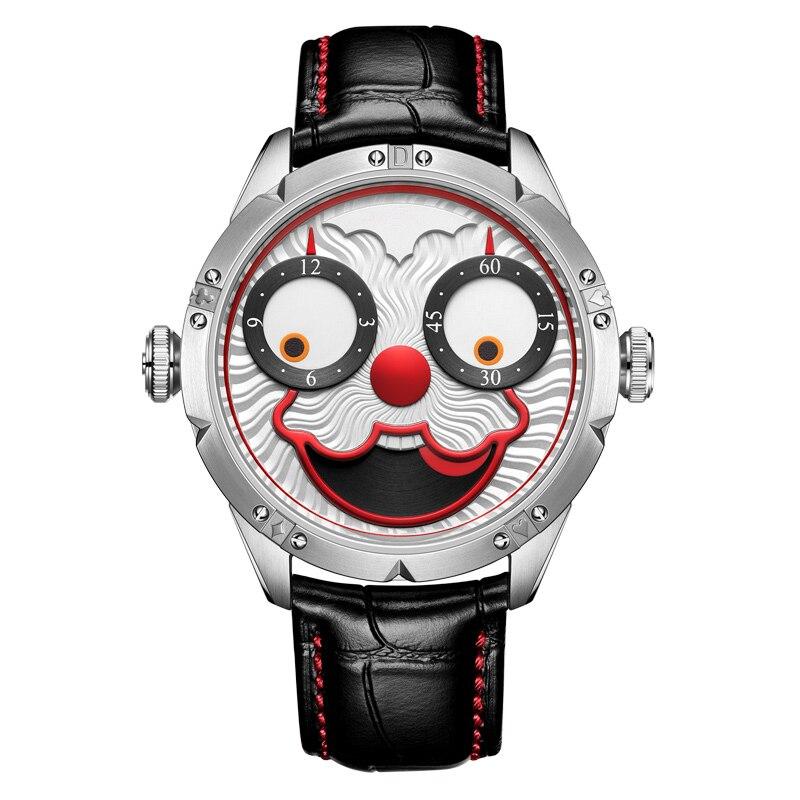 Top brand di lusso automatico della vigilanza degli uomini meccanici diesel orologio svizzero di orologi da uomo costoso joker diver orologio in pelle reloj maschio