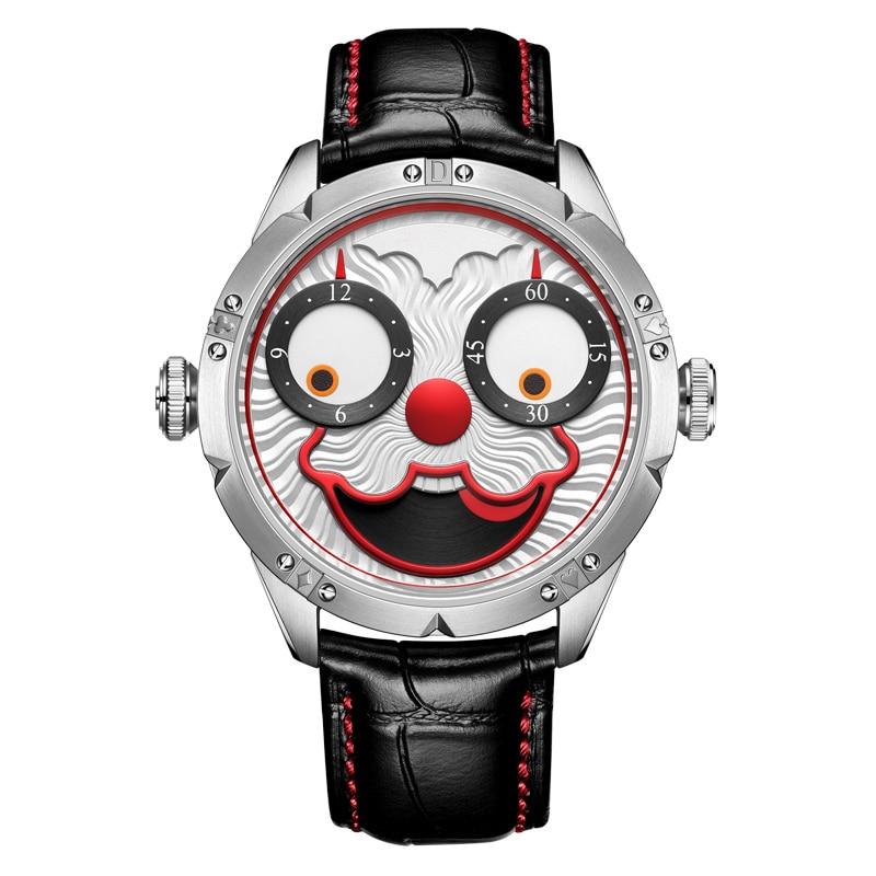 Top marque de luxe automatique montre hommes mécanique diesel horloge suisse hommes montres cher joker plongeur montre en cuir reloj mâle