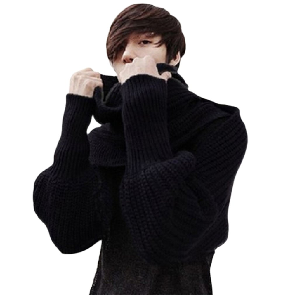 NEW Europe And American Style New Winter Wool Scarves For Men And Women With Sleeves Knitted Scarf Thick Warm High-end Fashion