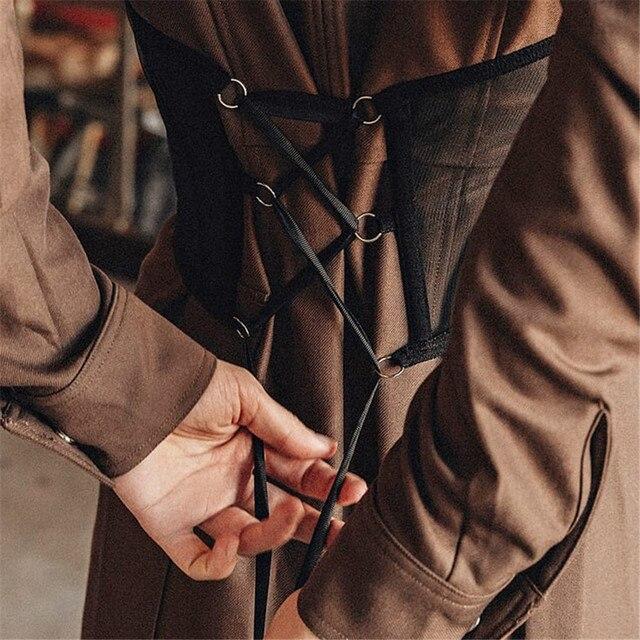 Y2K Mesh Chain Corset Crop Tops E-Girl Fashion Black Harness Corset Belt Women Outfits Streetwear Female Sexy Tight Aesthetics 3