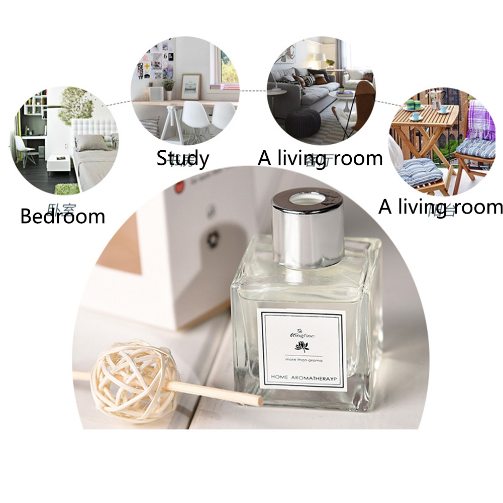 Fragrance Relieve Stress Home Decoration Office Aromatherapy DIY Rattan Sticks Exquisite Portable No Fire Car Aroma Diffuser Set