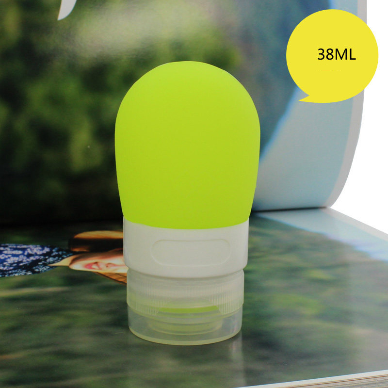 38ml Silicone Travel Packing Press Lotion Shampoo Gel Container Portable Squeezable Refillable Bottle Cosmetic Makeup Tools