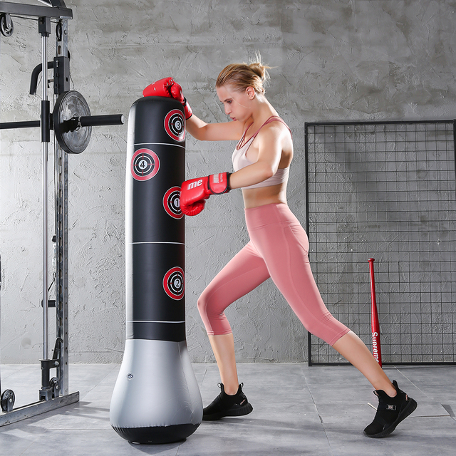 Inflatable Boxing Bag Training Pressure Relief Exercise Water Base Punching Standing Sandbag Fitness Body Building Equipment 2