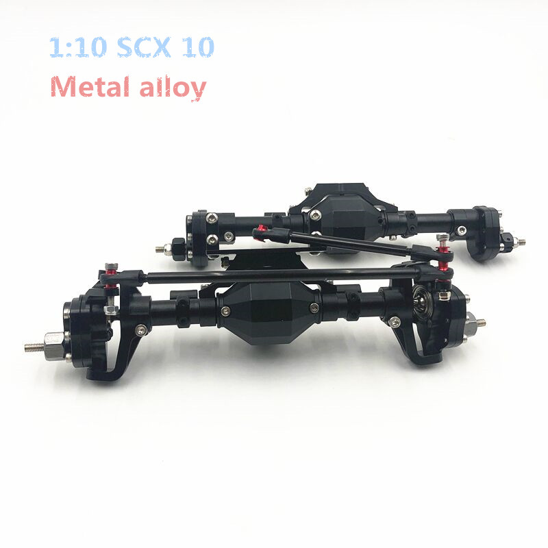 SCX10 Metal alloy Rear Axle and Front Axle for 1/10 RC Crawler Car Axial SCX10 II 90047 90046 TRX4 Upgrade Parts