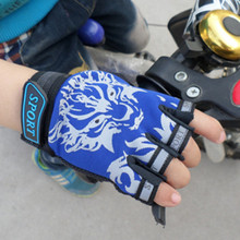 2020 Summer Kids Cycling Gloves Half Finger Bicycle Gloves Riding Mountain Bike Outdoor Sports Gloves For Boys Girls Children outdoor cycling riding half finger gloves blue pair size xl