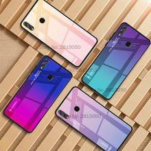 Цветной градиентный чехол для телефона Huawei Y9 Y6prime P smart Plus Nova 4E 3i P30 P20 Pro Lite Honor 10i 20i 8A 8X стеклянная крышка