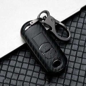 Fashion Scrub ABS Car key case full cover protect For Mazda 2356 Demio CX-3 CX-4 CX-5 CX-7 CX8 CX-9 MX5 Axela Atenza 2015-2019(China)