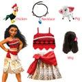 Детская одежда для девочек для костюмированной вечеринки платье принцессы для девочек с героями мультфильма «Моана»; Детские Vaiana для девоч...