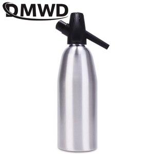 Image 3 - Dmwd manual 1l fabricante de soda co2 dispensador bolha água gerador bebida fresca cocktail máquina soda barra alumínio diy dispensador água