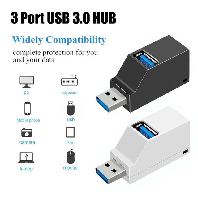 USB 3.0 HUB Adapter Extender Mini Splitter Box 3 Ports for PC Laptop Macbook Mobile Phone High Speed U Disk Reader for Xiaomi 2