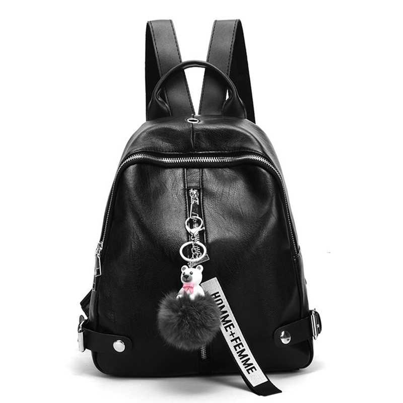Limit 500 Local stock Fashion Women Backpack Travel Shoulder Bag Girls Ladies PU Leather Rucksack New