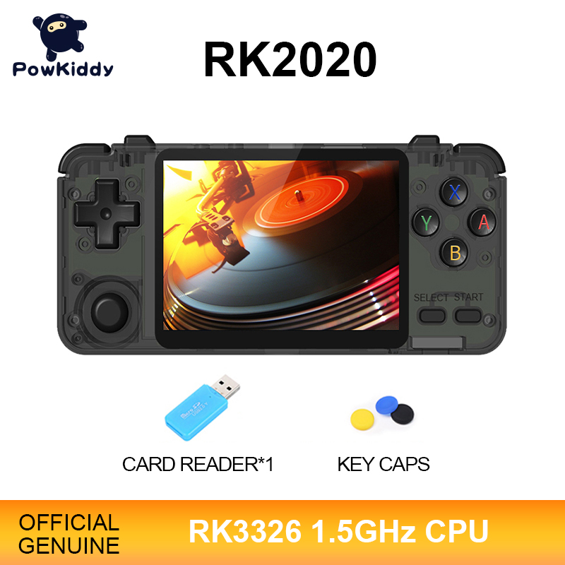 POWKIDDY RK2020 3D Games Retro Console 3 5-Inch IPS Screen Portable Handheld Game Console PS1 N64 Games Video Game Player