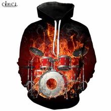 Classic Musical Instruments Drum Men Hoodies 3D Printed Autumn Hoodie Drumming Tracksuit Clothing Casual Sportswear Tops T242