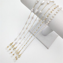 Sunglasses Mask Chain For Women Pearl Glasses Chains Lanyard 2021 New Fashion Gold Color Neck Strap Spectacle Cord