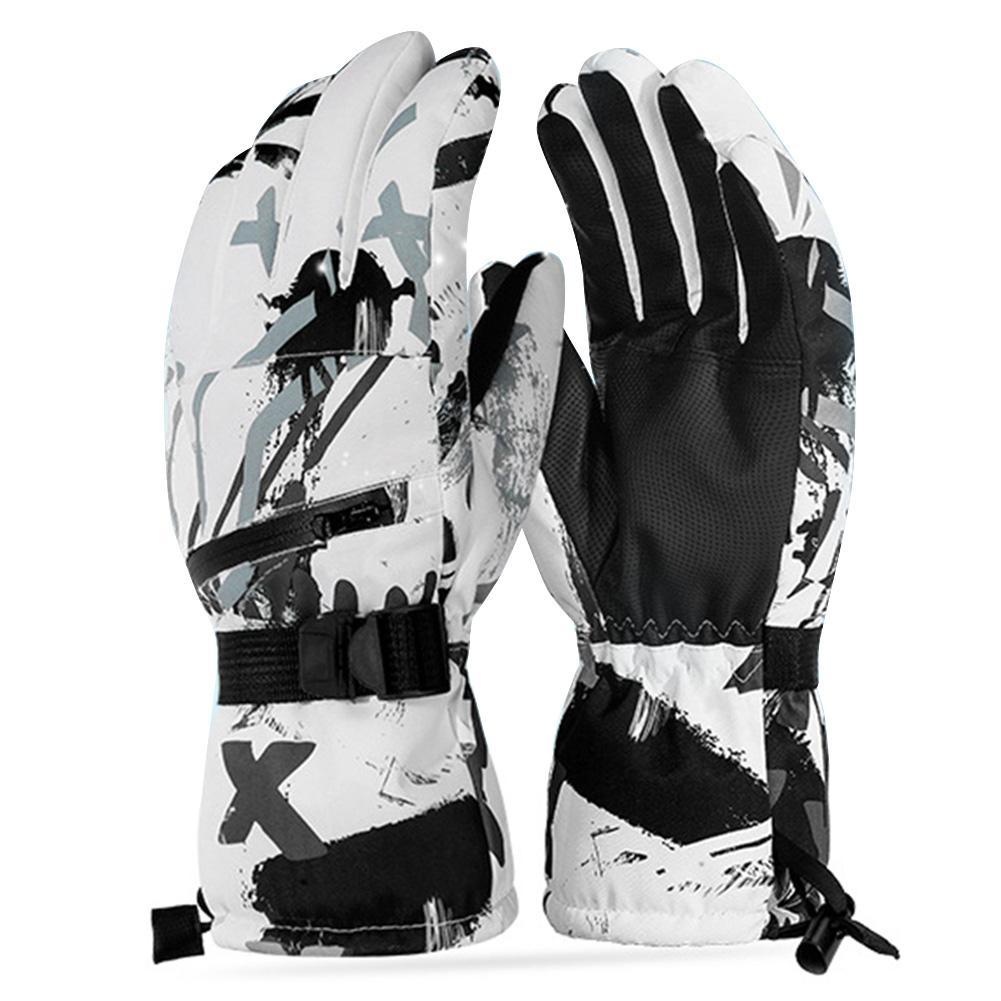 Thermal Ski Gloves Men Women Winter Skiing Fleece Waterproof Snowboard Gloves Touch Screen Snow Motorcycle Warm Mittens