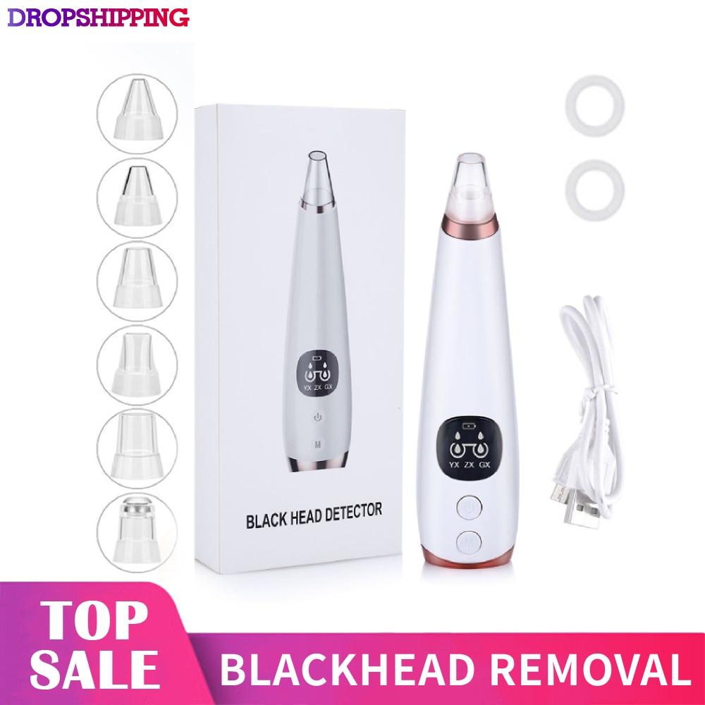 Blackhead Remover Nose Skin Care Pore Vacuum Acne Pimple Removal Vacuum Suction Tool Facial Diamond Face Clean Machine