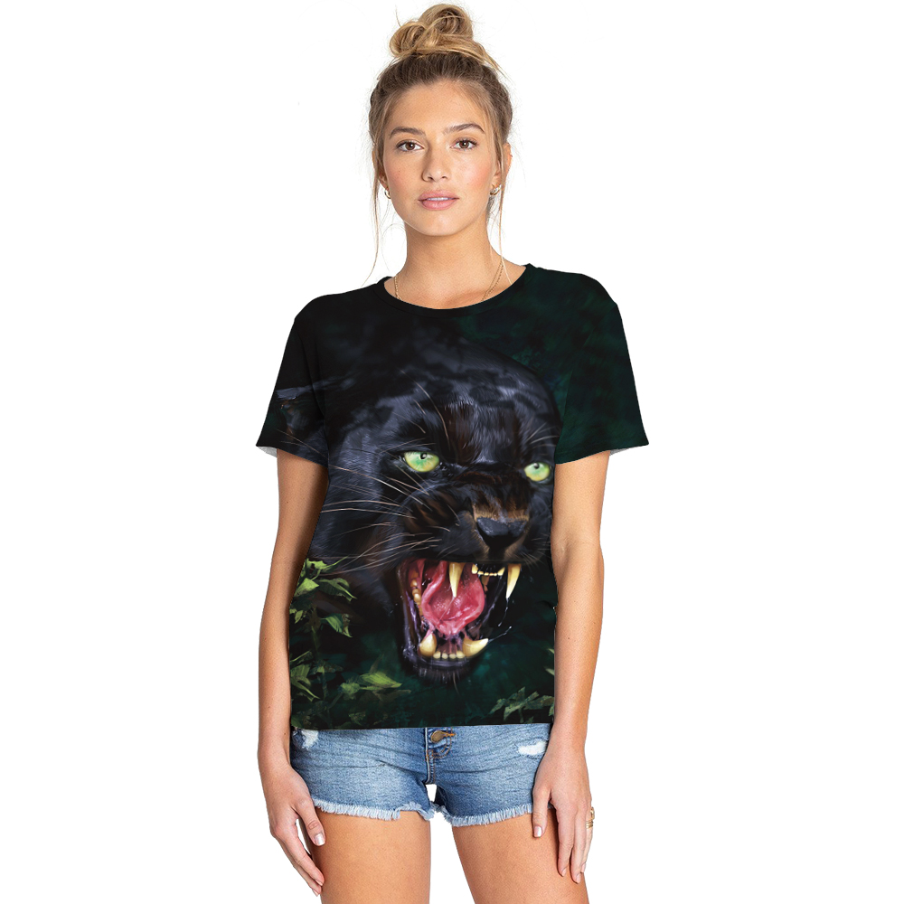 Female Unisex Wogyms New Short Sleeve O-neck Tee Shirt Summer Personalized T-Shirt 3D Print Creative Graphics Animal Tops