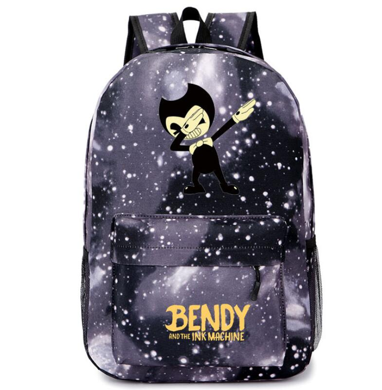 Bendy And The Ink Machine Backpack Children School Bags Boys Girls Daily Travel Backpack Cartoon Mochila School Gifts