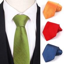 Classic Solid Neck Ties for Men Casual Suits Tie Gravatas Green Mens Neckties For Business Wedding 8cm Width