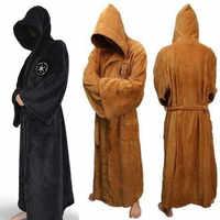 Homme flanelle Robe mâle à capuche épais Star Wars Robe de chambre Jedi Empire hommes peignoir hiver longue Robe hommes bain Robe
