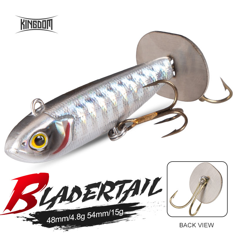 Fishing Kingdom BLADERTAIL VIB Fishing lures Lead Jigging Hard Lure Tail Vibration produces sound Sinking Artificial Baits Wobblers