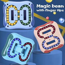 Hamburger Puzzle Cube Rotating Magic Be-an Fingertip Toy Stress Relief Toys For Kids And Adult Stress Iq Brain Teaser Puzzles W3