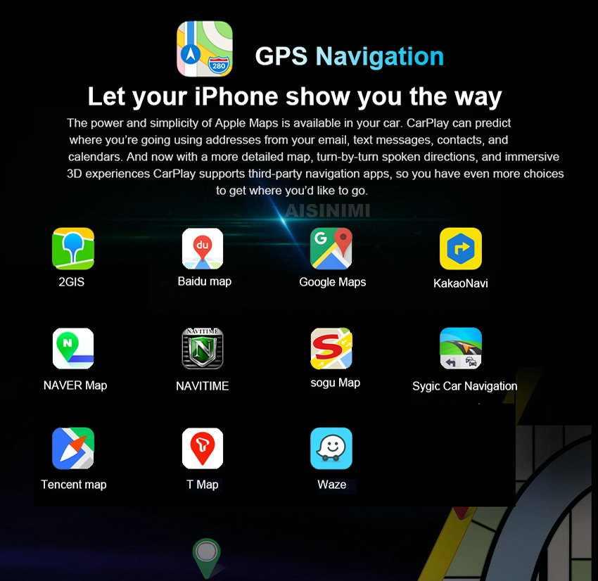 Aisinimi dla BMW 1 2 3 4 5 6 7 seria F30 F10 F34 F32 F33 F20 F02 F56 IOS bezprzewodowy apple carplay Android Auto moduł do odtwarzania