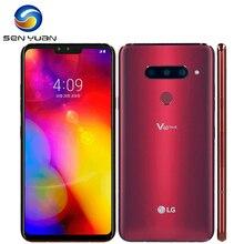 هاتف محمول V405EBW LG V40 ThinQ 6.4 بوصة 6 جيجابايت RAM 64 جيجابايت/128 جيجابايت ROM 16 ميجابكسل كاميرا ثلاثية LTE بشريحة واحدة وبصمة إصبع غير مغلق