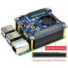 Raspberry Pi 4 Power Over Ethernet HAT (B) 802.3af POE Network z wentylatorem chłodzącym temperatury OLED dla Raspberry Pi 3B + / 4B