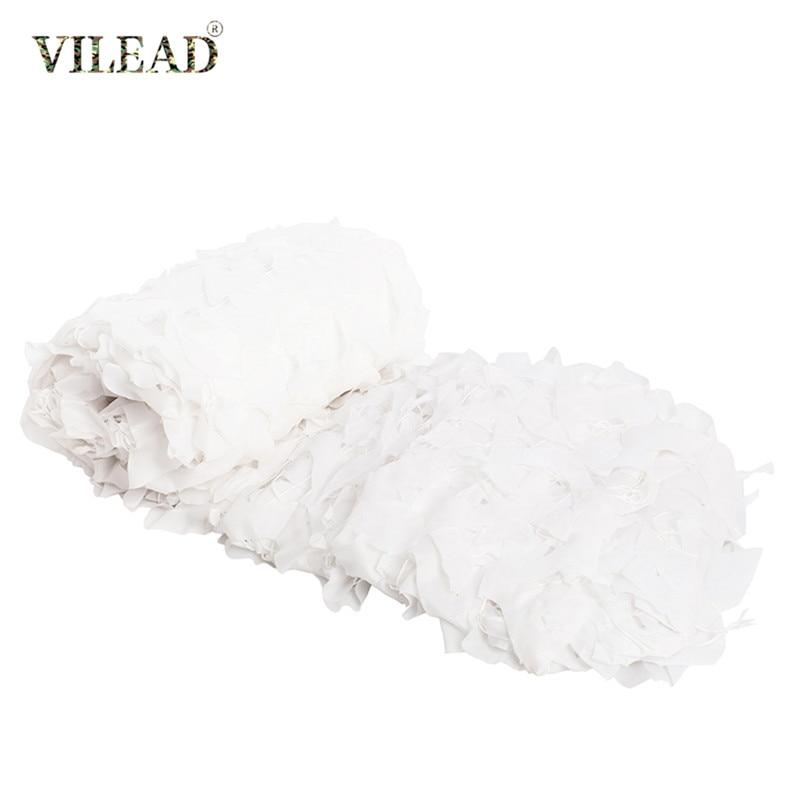 Белая камуфляжная сетка VILEAD, 2x3 3x4 3x5, навес для террасы, украшения для ресторана