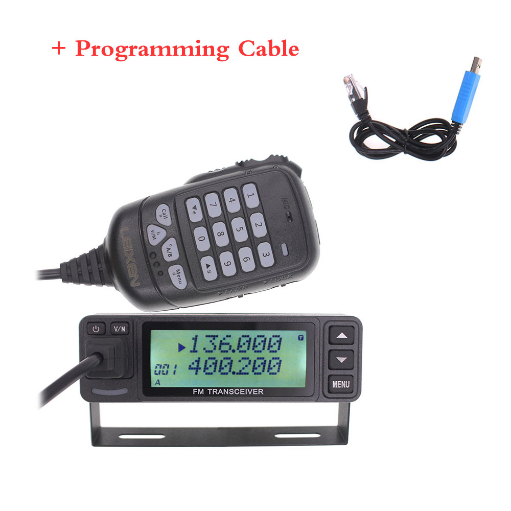2019 LEIXEN VV-998S VV-998 Mini 25W Dual Band VHF UHF 144/430MHz Mobile Transceive Amateur Ham Radio Car Radio