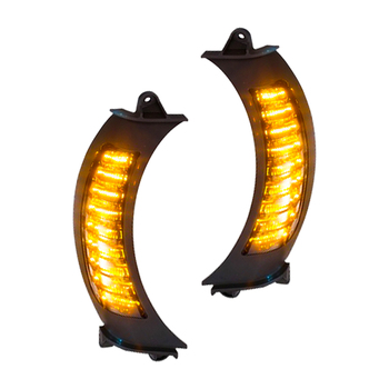 Motorcycle Front Headlight Led Amber Turn Signal Light With White DRL Lamp Refit for Harley Road Glide 2015 2016 2017 2018 2019