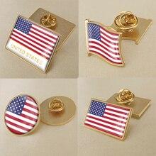 Герб США флаг американская карта герб брошь значки нагрудные знаки