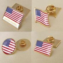 Brasão de armas dos estados unidos da américa mapa bandeira nacional emblema broche emblemas lapela pinos