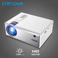CRENOVA Лучшая Android видео проектор C8 1280*720P родное разрешение с Wi-Fi Bluetooth домашний кинотеатр кинопроектор