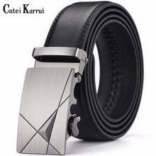 Catei Karrui Brand leather men's automatic buckle black men's belt men's leather
