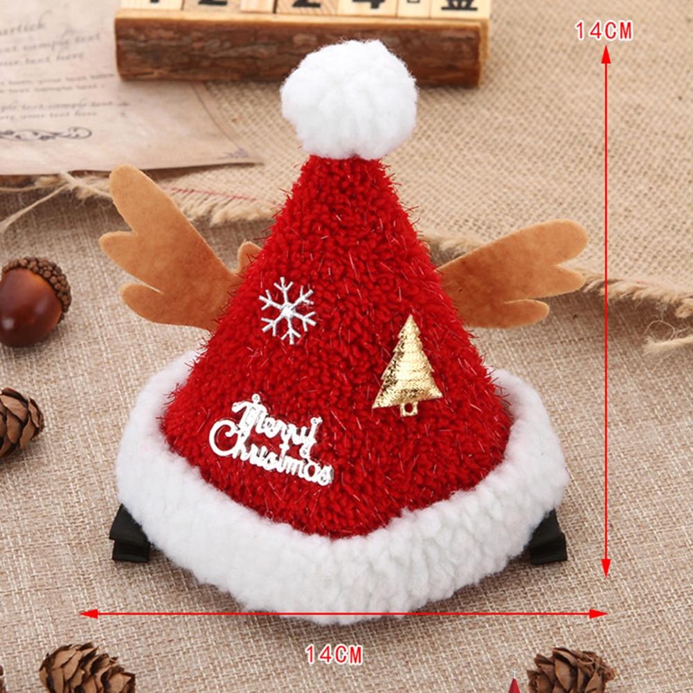 Купить с кэшбэком Kid girl Christmas Santa Claus Plush Hair Clip Children Baby Lovely Headwear Hair Clip Party Decorations Hairpin Accessories
