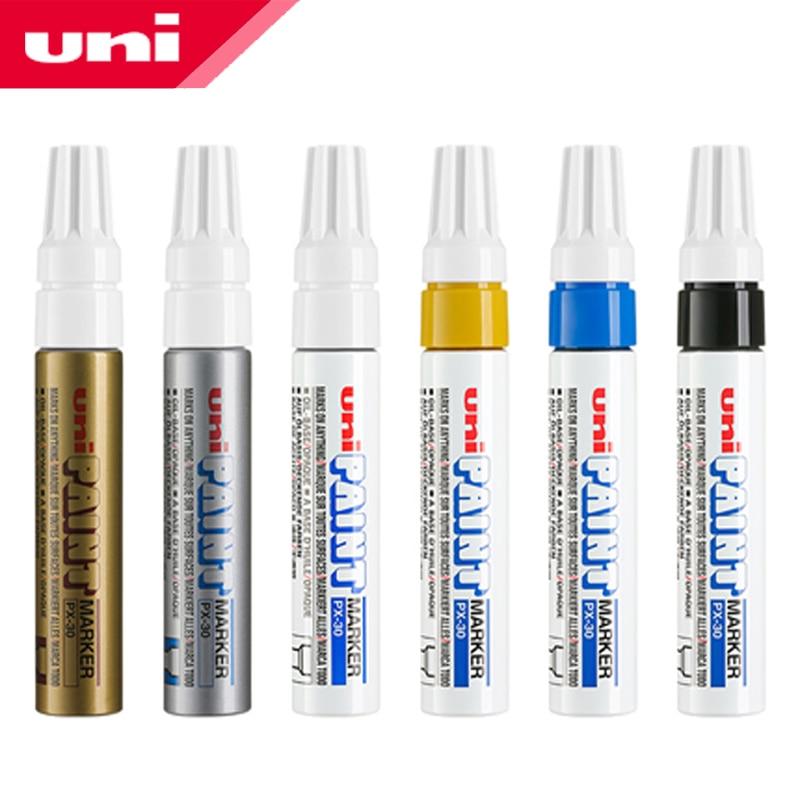1pcs Japan UNI PX-30 Paint Pen Thick Word Wide Touch Up Pen Notes Industrial Pen Oblique Head Thick Oily Pen Permanent Marker