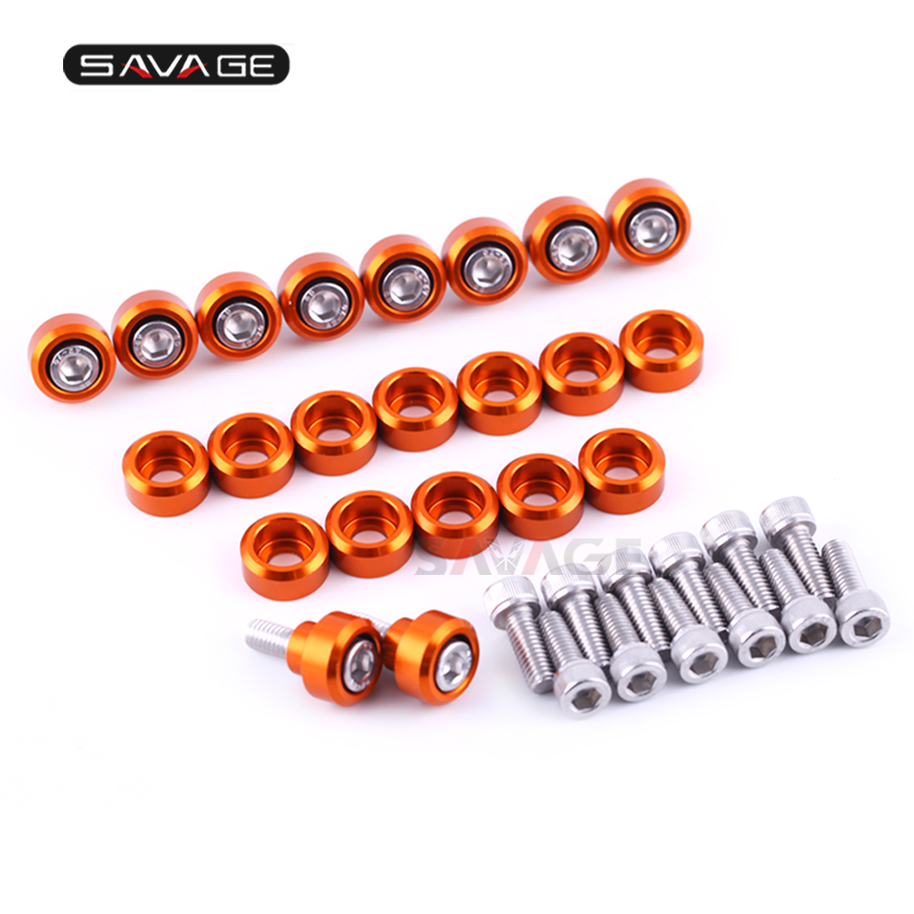 22pcs Front Fender Frame Fairing Bolts For KTM 990 ADVENTURE/S/R 2006-2013 ADV Motorcycle Accessories Windscreen Washer Screw M6