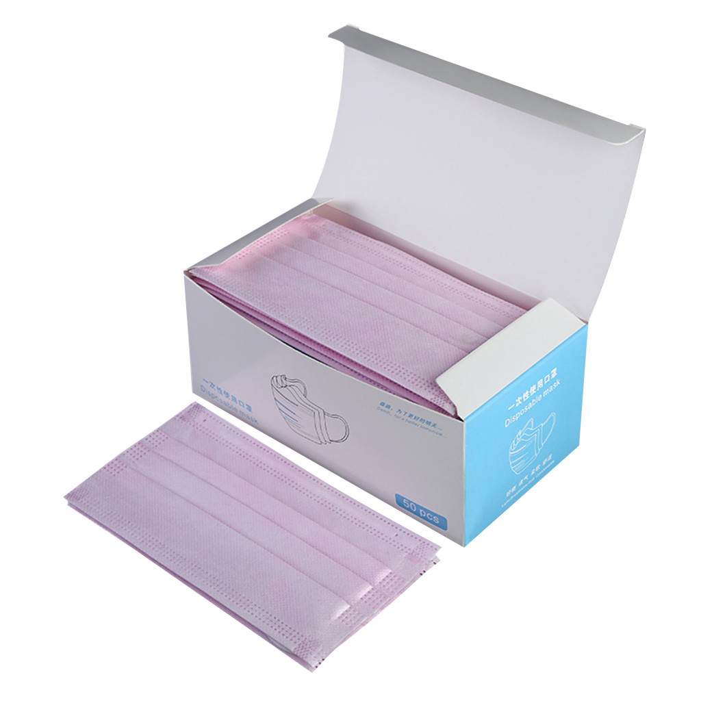 Disposable Mask 50pcs Anti Pollution Mask Unisex Protection Fabric Dust Mouth Mask Mask Anti-dust Pink Anti-spitting Mask