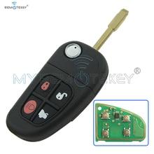 remtekey flip remote key fob for jaguar x s xj xk nhvwb1u241 4 button 434mhz 434mhz XJ, XK,S,X FO21 remote key  4button 1X43-15K601-AE FCC NHVWB1U241 for Jaguar