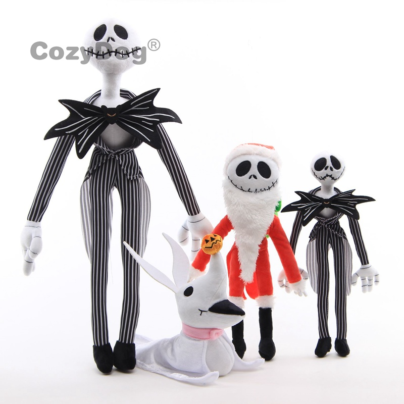 <font><b>20</b></font>-50cm The Nightmare before Christmas Skellington Jack Plush Toys <font><b>Peluche</b></font> Ghost Dog Zero Doll Women Kids Birthday Gift image