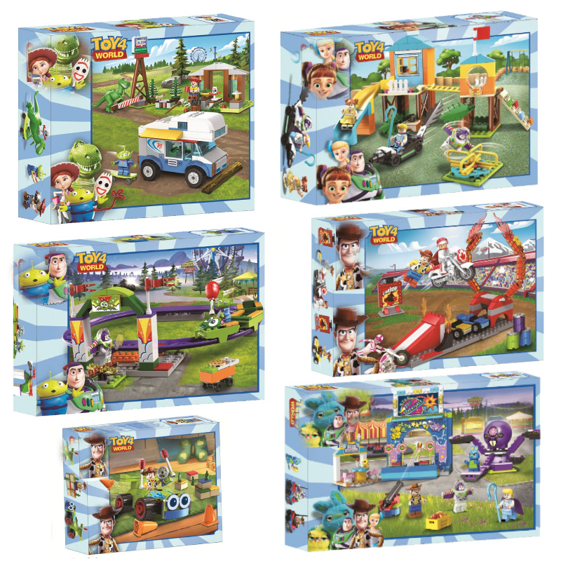 Toy Story 4 Park Block Set Woody Buzz Lightyear Compatible Legoinglys Building Brick Toy For Kids Christmas Gift