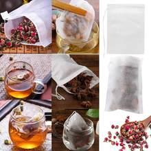 100 adet tek kullanımlık çay poşetleri filtre torbaları çay demlik dize iyileşmek mühür, gıda sınıfı olmayan dokuma kumaş baharat filtreler çay poşetleri