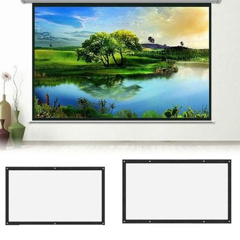 16:9 Portable Foldable Projector Screen 120 inch Wall Mounted Home Cinema Theater 3D HD Projection Screen fabric Canvas newpal 150 inch projector screen 4 3 16 9 foldable projector screen for outdoor and home cinema movies
