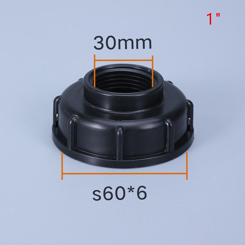 """Raccords de réservoir d'eau durables S60X6 filetage à connecteur de tuyau de jardin de 1/2 """", 3/4"""" 1 """", adaptateur de remplacement de vanne de réservoir IBC"""