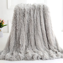 Shaggy Coral Blanket Warm Soft Blanket For Bed Sofa Bed Bedspreads Home Decoration Comfortable Bed Cover Plaid Blankets