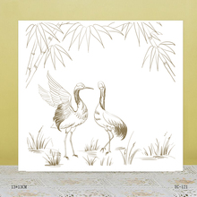 ZhuoAng Red-crowned crane Transparent seal / sealed DIY scrapbook / album decoration card / seamless seal