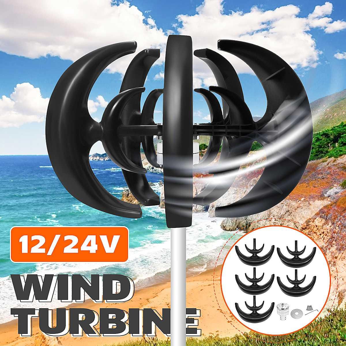 4000w 12v 24v eixo vertical turbinas eolicas gerador lanterna 10 laminas motor kit turbinas de carga